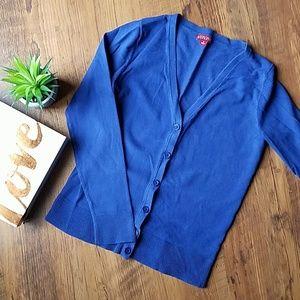 Merona Blue Button up Cardigan